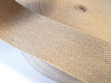 PURE LINEN WEBBING Per metre 50mm wide Flax fabric strap upholstery chair craft